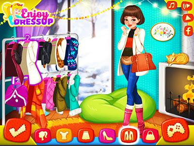 Kışlık Elbise Giydirme Oyunu Kış Modası Giysi Modelleri