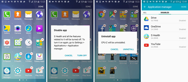 Samsung Galaxy S6 lets you disable unwanted preinstalled apps