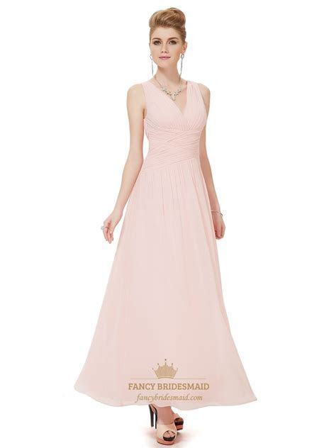 Light Pink Bridesmaid Dresses   Vampal Dresses