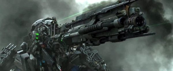 Lockdown arms himself in TRANSFORMERS: AGE OF EXTINCTION.