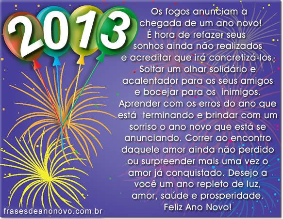 Frases de Feliz Ano Novo 2013