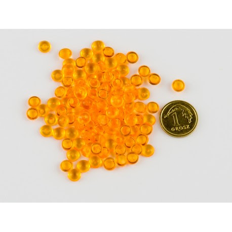 Krople akrylowe pomarańczowe 5mm opak.150szuk