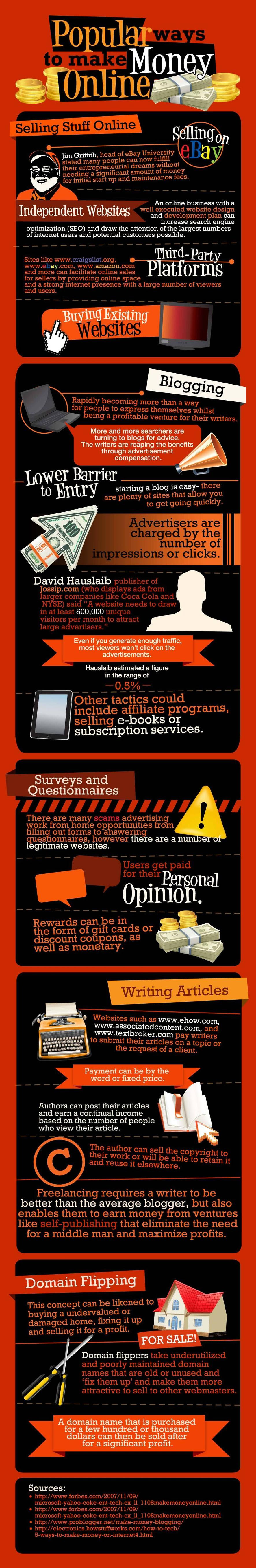 how To make money Online - #infographic