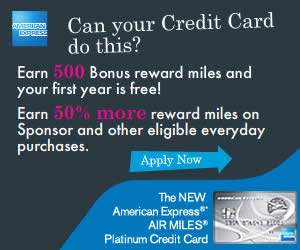 American Express Canada -Plat Air Miles