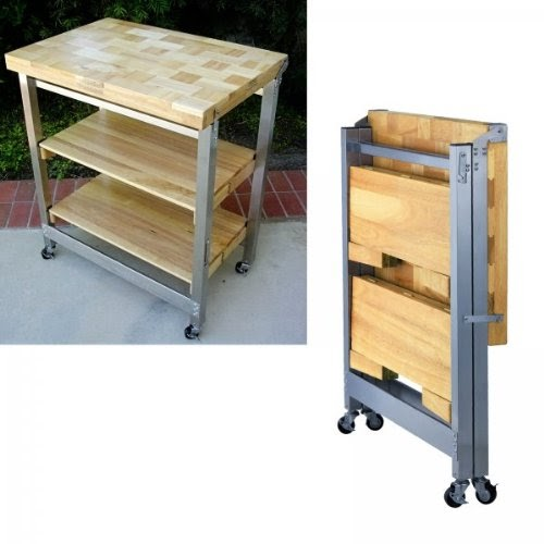 Order Today Deluxe Folding Kitchen Island Natural 36 H