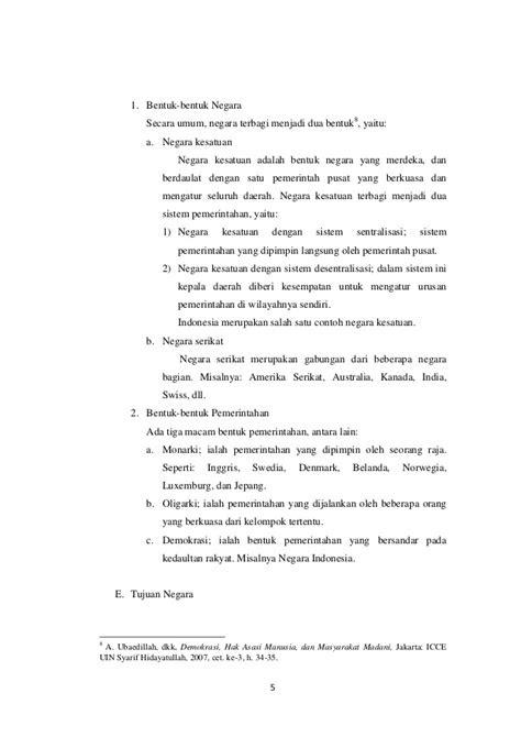 Contoh Makalah Negara Dan Konstitusi Kumpulan Contoh Makalah Doc Lengkap