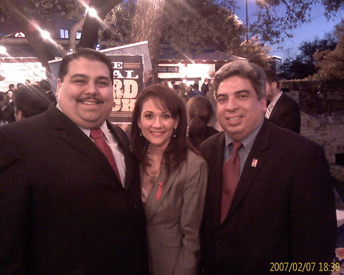 Reps Guillen, Gonzalez, and Peña at El Paso Day
