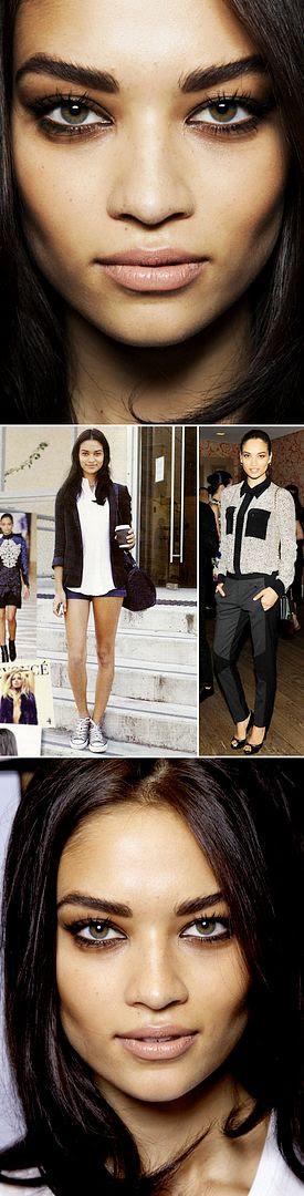 SHANINA SHAIK MODEL STREET STYLE BEAUTY BACKSTAGE PRETTY EYES THICK EYEBROWS TYRESE GIRLFRIEND EXOTIC BLACK BEAUTY