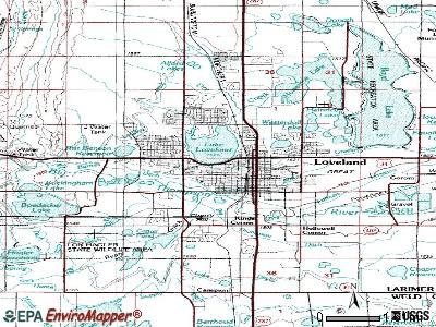 World Map Gray: Loveland Colorado Map