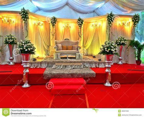Malay Wedding Stage Decor  Singapore Editorial Stock Photo