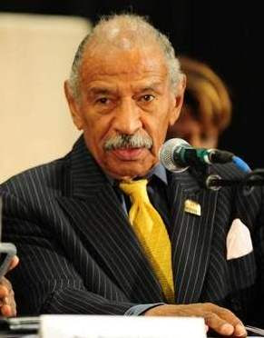 U.S. Rep. John Conyers at forum on Detroit bankruptcy last year.