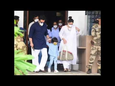 Kareena Kapoor Khan: करीना कपूर खान तैमूर और सैफ अली खान के साथ