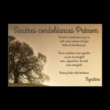 Carte De Condoleances A Imprimer Sans Texte Texte Selectionne
