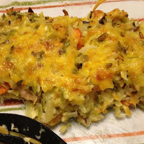 Last night's Cheesy Chicken & Wild Rice Casserole