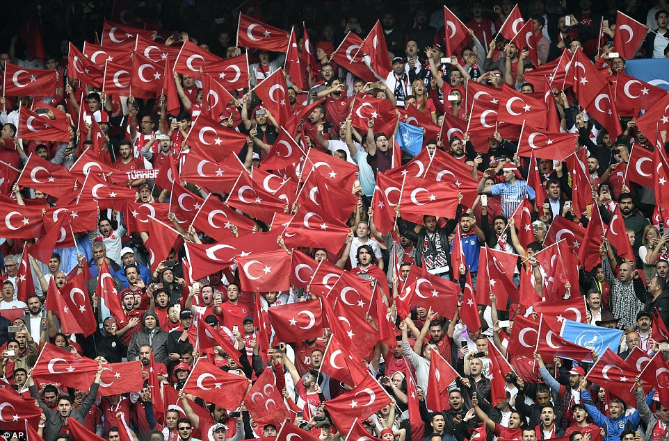 Turkish fans were in fine voice ahead of their opening Euro 2016 encounter against Croatia in the Parc des Princes