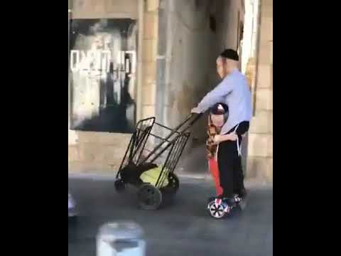 2 Brothers ride with a technique bike in Israel