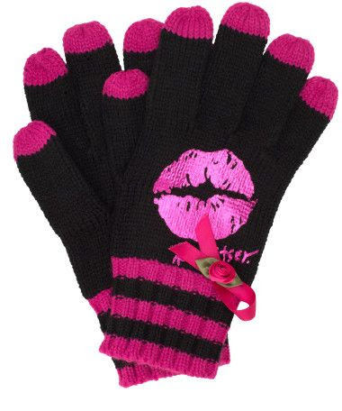 Betsey Johnson Breast Cancer Awareness Gloves