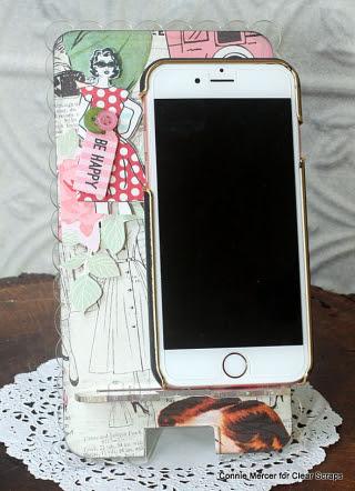 Clear scraps_phone stand_c. mercer