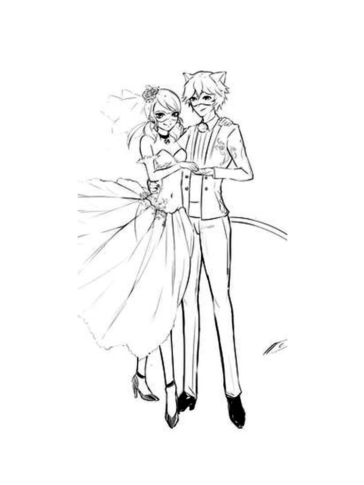 990 Coloring Pages Ladybug And Cat Noir , Free HD Download