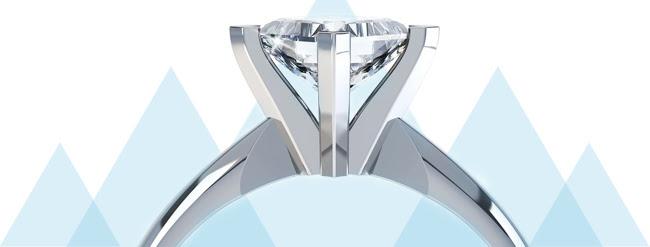 high engagement ring settings