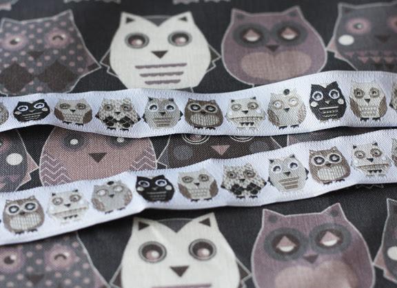 owl jacquard ribbons