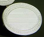 Elegant pinstripe cufflinks. (J9350)