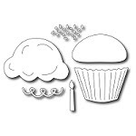 Frantic Stamper Precision Die - Delicious Cupcake (set of 6 dies)