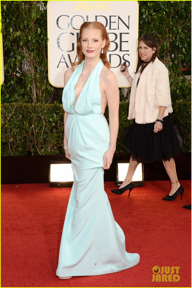 jessica chastain golden globes 2013 red carpet 02