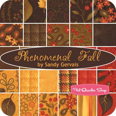 Phenomenal Fall Charm Pack  Sandy Gervais for Moda Fabrics