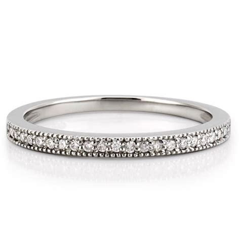 Milgrain Diamond Wedding Band   Milgrain Wedding Band   Do