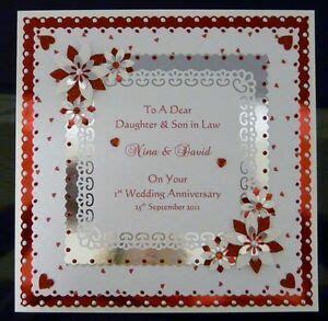 1st Wedding Anniversary Card Wife/Husband/Daughter/Son etc