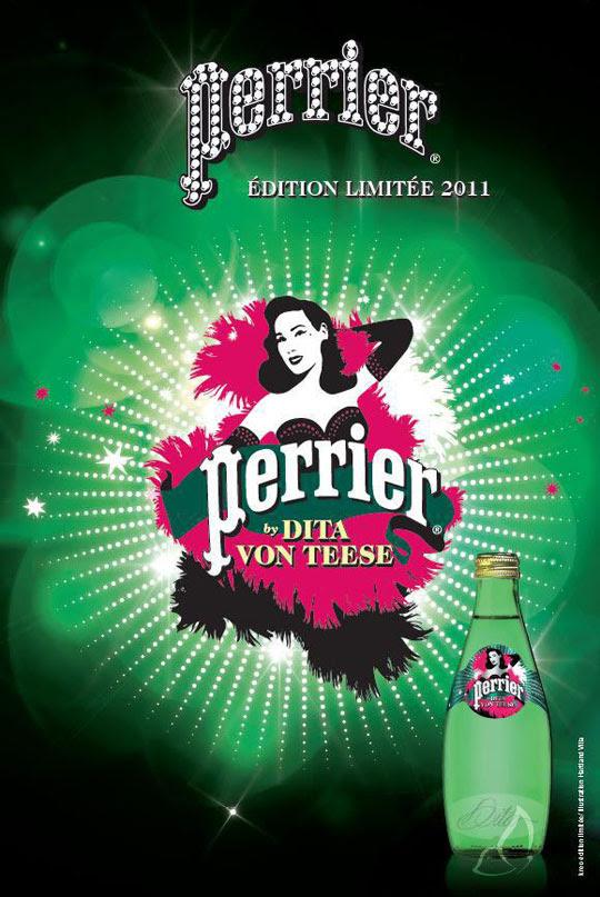 Perrier Dita Von Teese 2011 1 Perrier Dita Von Teese : Edition Limitée Noel 2011