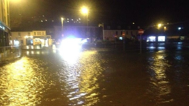 Flooding in Kingsbridge. Pic: Peter Trembath
