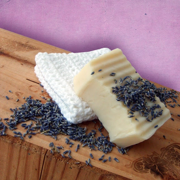 Lavender Shea Butter Soap and Washcloth