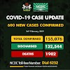 COVID 19 Update, 600 New Cases In Nigeria
