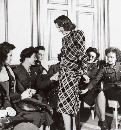 Lee Miller's Service women at a fashion salon, Paris, 1944