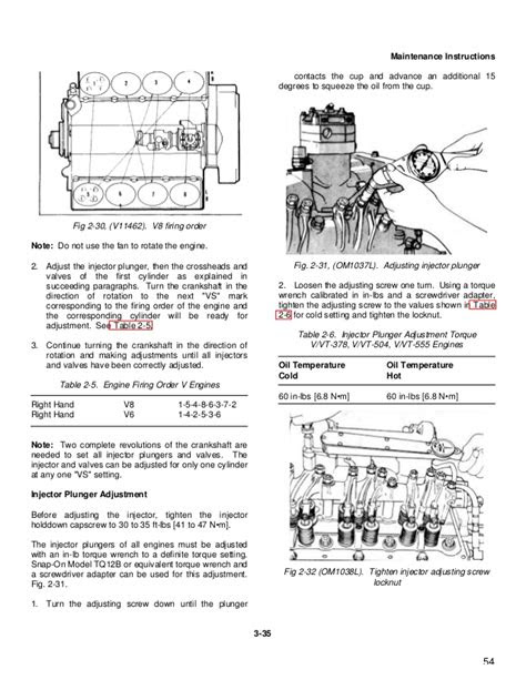 Free Printable Cummins 903 Injector Setting - Bibstar