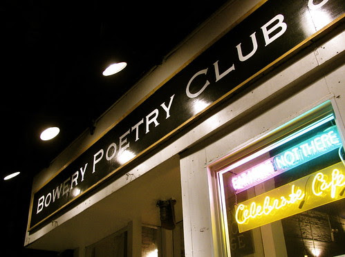 Bowery Poetry Club Sign