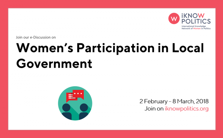 Womens Participation In Local Government International Knowledge