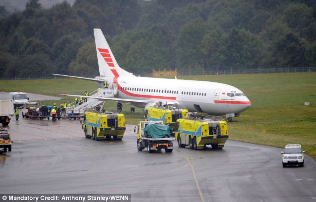 Passengers on the Boeing 737 said there had been a problem with the plane before take off