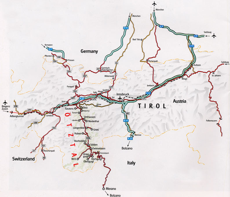 Maps Of Solden Ski Resort In Austria Sno