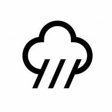 大雨シルエット イラストの無料ダウンロードサイトシルエットac
