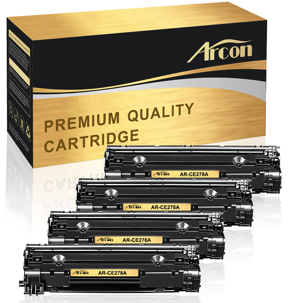 Arcon 4 Packs Compatible For Hp 78a Ce278a Canon 128 Toner Cartridge