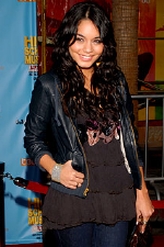 Vanessa Hudgens wearing Mike and Chris leather jacket