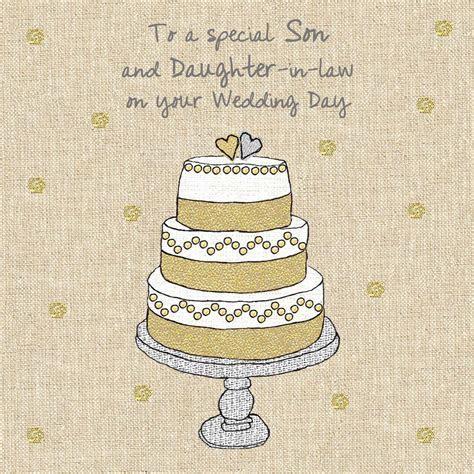 Son & Daughter In Law Wedding Cake Wedding Card   Karenza