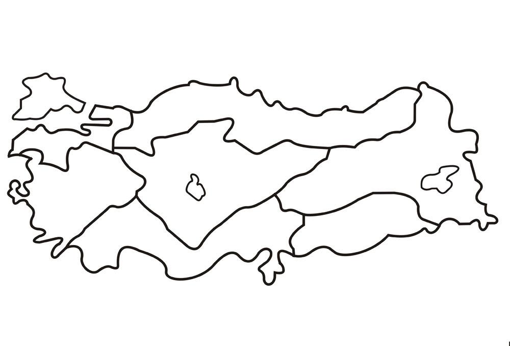 Türkiye Haritası Boyama ücretsiz Boyama Resimleri