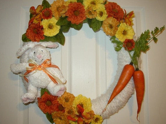 Whats Up Doc Yarn Wreath