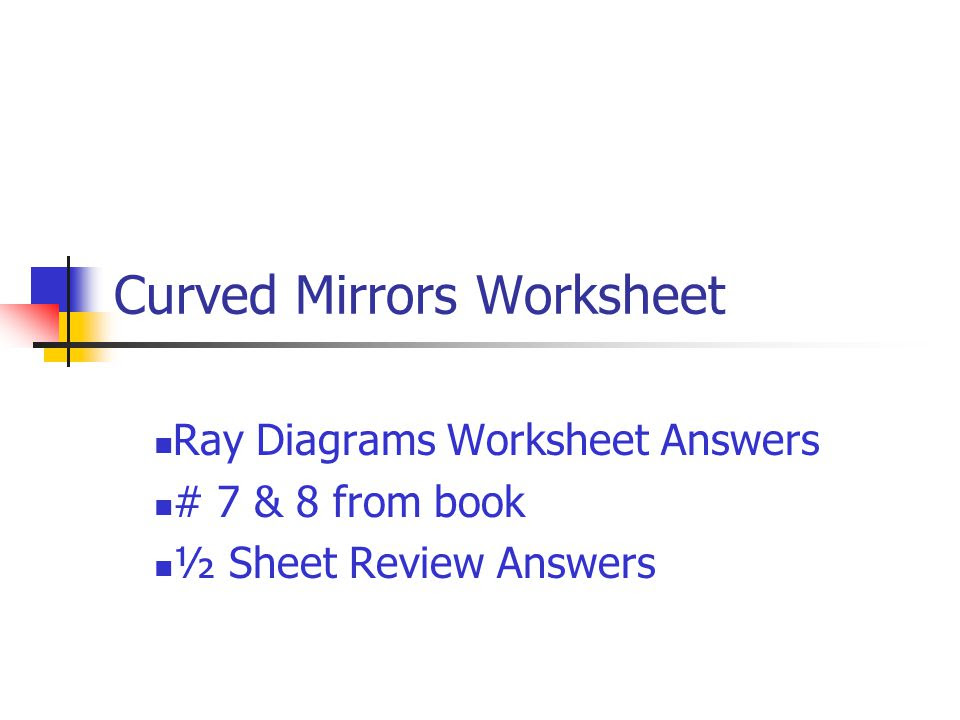 Mirror Ray Diagram Worksheet Answers