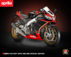 SBK Championship commemorative special edition 2013 Aprilia RSV4 Factory announced for the US