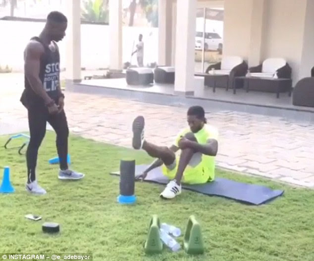 The 31-year-old has been posting videos of his bespoke workouts on his Instagram account
